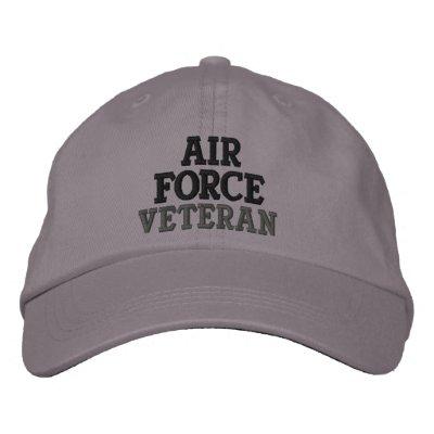 Air Force Veteran Military Embroidered Cap
