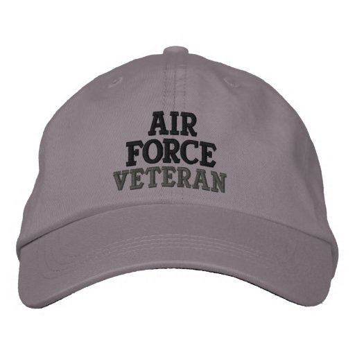 Air Force Veteran Military Embroidered Hat