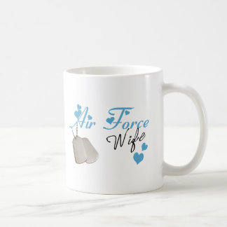 Air Force Wife Coffee Cup Classic White Coffee Mug