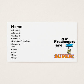 air fresheners are super business card