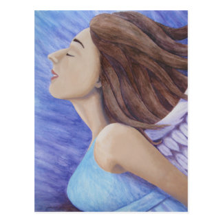 Air Goddess Flying Postcard
