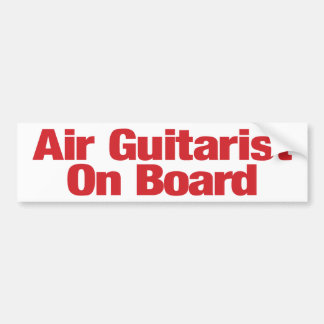 Air Guitarist on Board Bumper Sticker