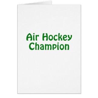 Air Hockey Champion Card