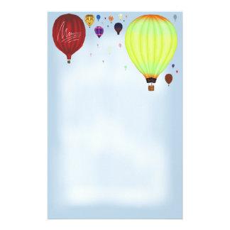 Air Mail ~Hot Air Balloons~ Stationery