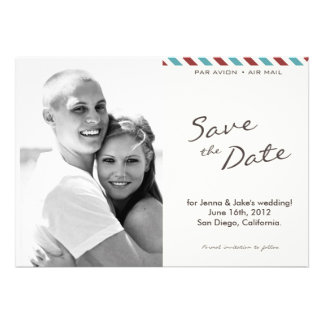 Air Mail Photo Save the Date Announcement 004