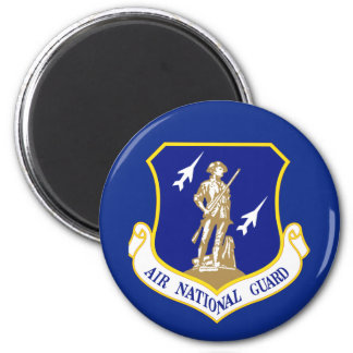 Air National Guard 6 Cm Round Magnet