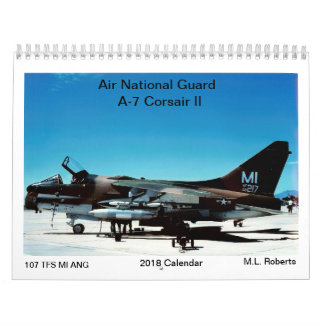 Air National Guard A-7 Corsair II Wall Calendars