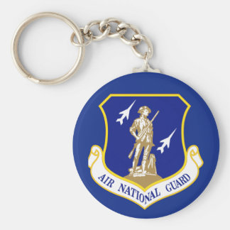 Air National Guard Basic Round Button Key Ring