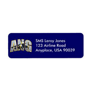 Air National Guard F-16 Return Address Label