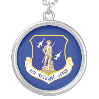 Air National Guard Round Pendant Necklace