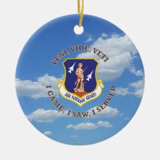 Air National Guard Shield Round Ceramic Decoration