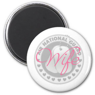 Air National Guard Wife 6 Cm Round Magnet