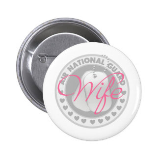 Air National Guard Wife Button