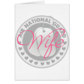 Air National Guard Wife Greeting Card