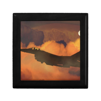Air Plane Fighter Night Sky Moon Clouds Aircraft Gift Box