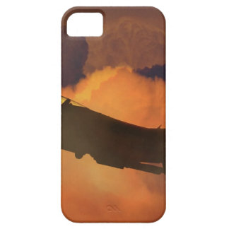 Air Plane Fighter Night Sky Moon Clouds Aircraft iPhone 5 Case