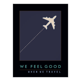 air plane travel inspired poster