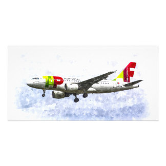 Air Portugal Airbus A319 Art Custom Photo Card