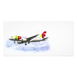 Air Portugal Airbus A319 Art Photo Greeting Card