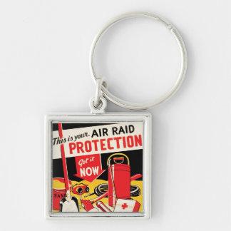 Air Raid Protection Keychains