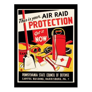 Air Raid Protection Postcard