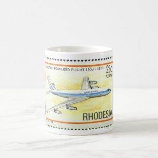 Air Rhodesia Mug with Commemorative Stamp.