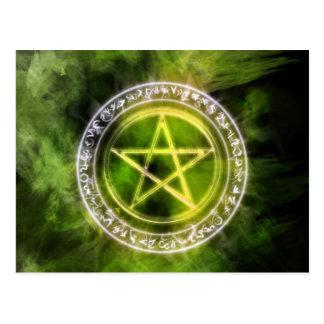 Air Rune Circle Pagan Pentacle Art Postcard