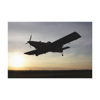 Air Tractor sunset Canvas Print