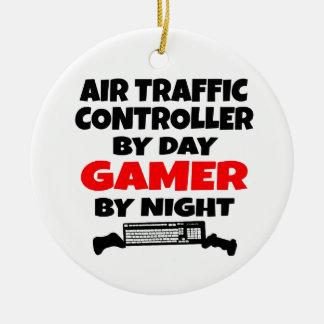 Air Traffic Controller Gamer Round Ceramic Decoration