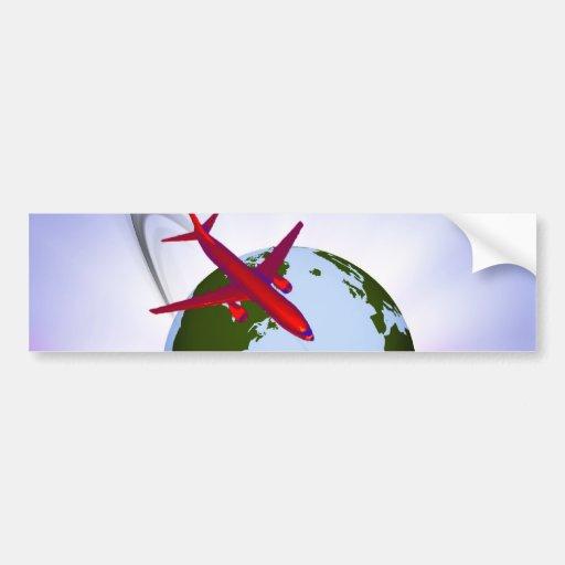 Air Travel Bumper Sticker