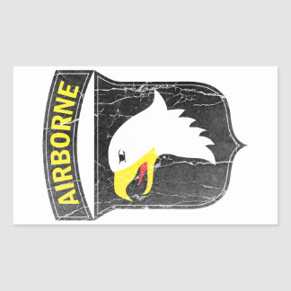 Airborne army 101 Screaming Eagle Rectangular Sticker