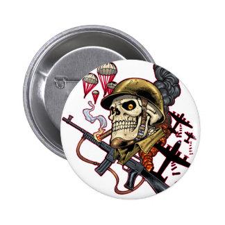 Airborne Marine Corps Parachute Skull by Al Rio Pins