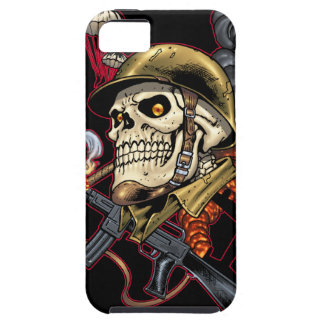 Airborne Marine Corps Parachute Skull by Al Rio iPhone 5 Cases