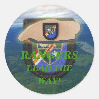 airborne rangers son wife mum vets scrapbooking classic round sticker
