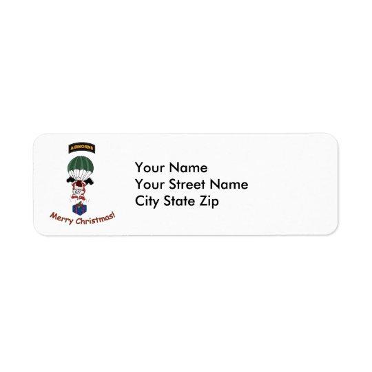 Airborne Santa. Return Address Label