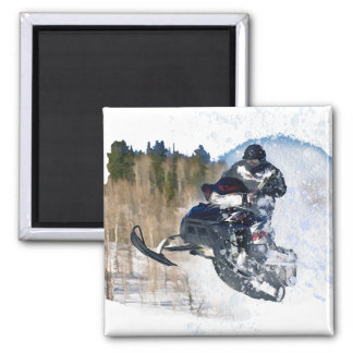 Airborne Snowmobile Magnet