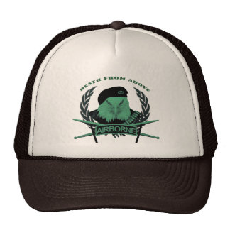 Airborne troops military insignia style cap