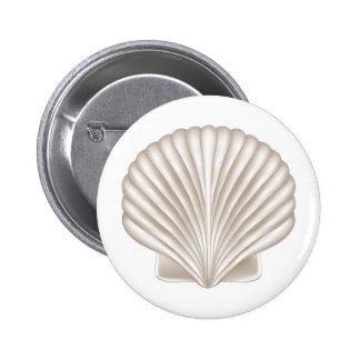 Airbrush Style Seashell 6 Cm Round Badge