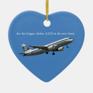 Airbus A320 on take-off image for Heart Ornament