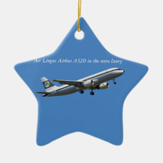Airbus A320 on take-off image for Star Ornament