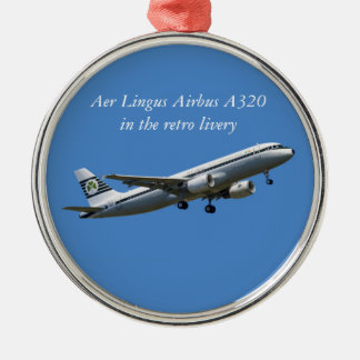 Airbus A320 on take-off Premium Round Ornament