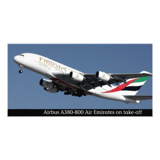 Airbus A380-800 images for photocard Photo Greeting Card