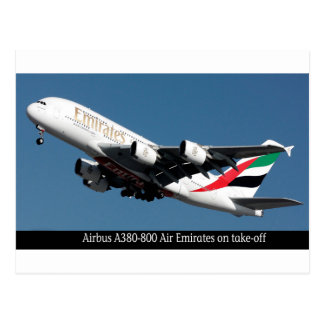 Airbus A380-800 images for postcard
