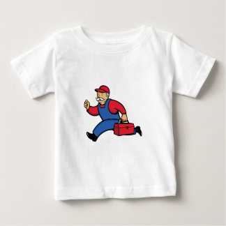 Aircon Technician Running Cartoon Baby T-Shirt