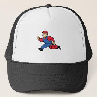 Aircon Technician Running Cartoon Trucker Hat