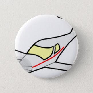 Aircraft 6 Cm Round Badge