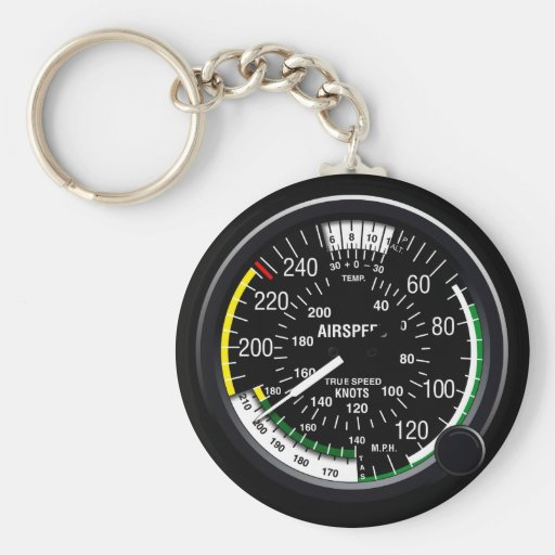 Aircraft Airspeed Indicator Gauge Keychain