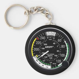 Aircraft Airspeed Indicator Gauge Keychain