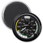 Aircraft Airspeed Indicator Gauge 6 Cm Round Magnet