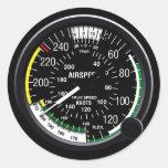 Aircraft Airspeed Indicator Gauge Round Sticker